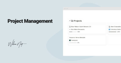 Project Management in Notion