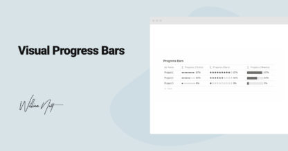Visual Progress Bars in Notion